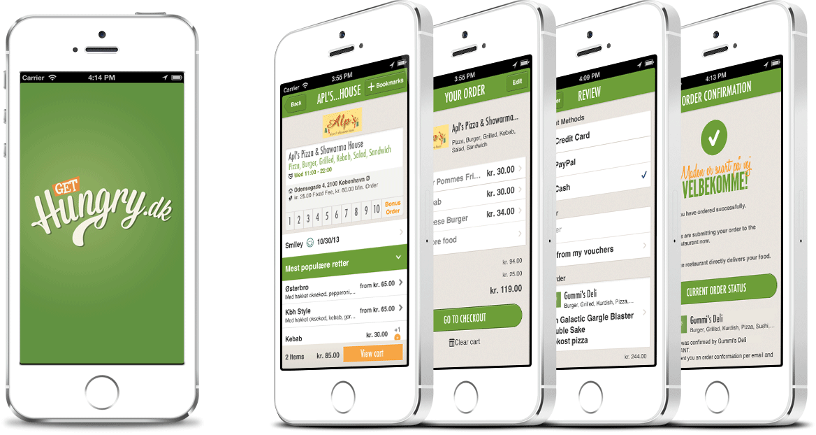 Level1 GmbH develops the mobile iOS app for Hungry.dk ApS.