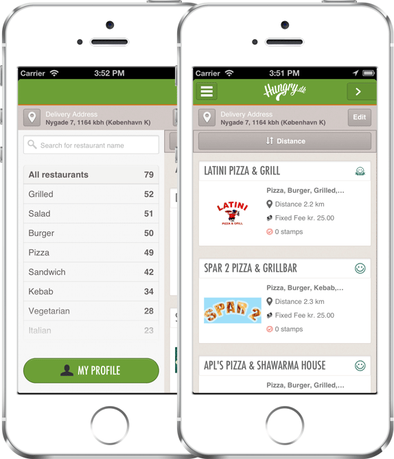 Level1 GmbH entwickelt die mobile iOS App for Hungry.dk ApS