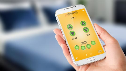 LOGICDATA – Mobile Remote App for your bed was developed by Level1 GmbH